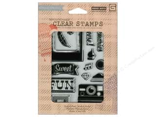 Clearance Plaid Stamps Clear: BasicGrey Clear Stamps 14 pc. Hipster Cheese