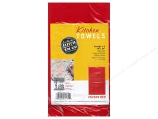 Aunt Martha's Towels Kitchen Cherry Red 2pc