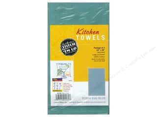 Towels Blue: Aunt Martha's Kitchen Towels 2 pc. Robin Egg Blue