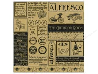 Canvas Corp 12 x 12 in. Paper Alfresco Sampler On Kraft (15 piece)