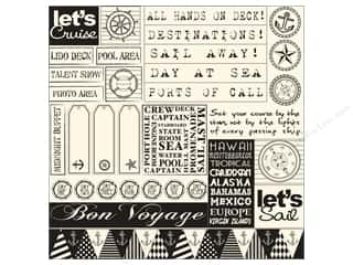 Compass Clearance Crafts: Canvas Corp 12 x 12 in. Paper Black & Ivory Sail Away Sampler (15 pieces)