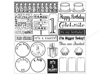 Canvas Corp Paper 12x12 Happy Birthday Sampler Wht (15 piece)