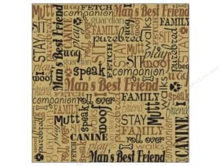 2013 Crafties - Best Adhesive: Canvas Corp Paper 12x12 Dog Words On Kraft (15 piece)
