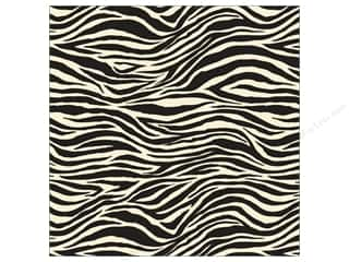 Canvas Corp Paper 12x12 Black &amp; Ivory Zebra (15 piece)