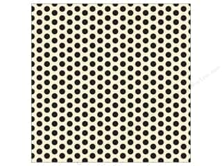Punches $12 - $16: Canvas Corp 12 x 12 in. Paper Black & Ivory Dot (15 pieces)