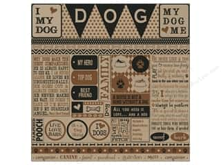 Canvas Corp Paper 12x12 About Dog Sampler On Kraft (15 piece)
