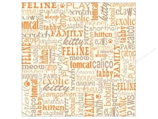Canvas Corp Paper 12x12 Cat Words On Ivory (15 piece)