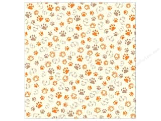 Canvas Corp Paper 12x12 Cat Paws On Ivory (15 piece)