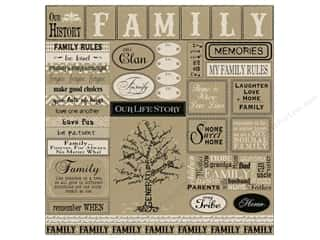 Canvas Corp Paper 12x12 Family Sampler On Kraft (15 piece)