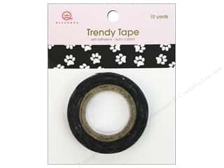 Queen&amp;Co Trendy Tape 10yd Icons Paw Print