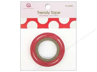 Queen&amp;Co Trendy Tape 10yd Mega Dot Red