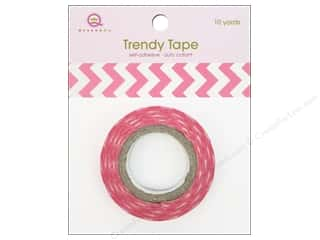 Queen&Co Trendy Tape 10yd Chevron Pink