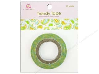 Glue and Adhesives Queen&Co Trendy Tape: Queen&Co Trendy Tape 10yd Paisley Summer