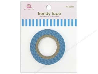 Queen&amp;Co Trendy Tape 10yd Skinny Minnie Stripe Blu