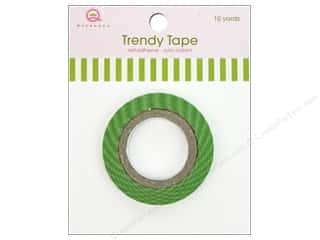 Queen&Co Trendy Tape 10yd Skinny Minnie Stripe Grn