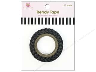 Queen&Co Trendy Tape 10yd Skinny Minnie Stripe Blk