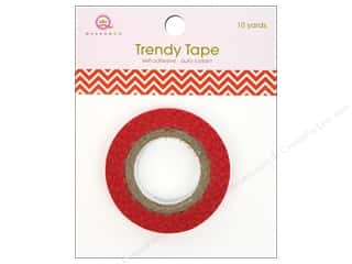 Queen&Co Trendy Tape 10yd Skinny Minnie Chevron Red