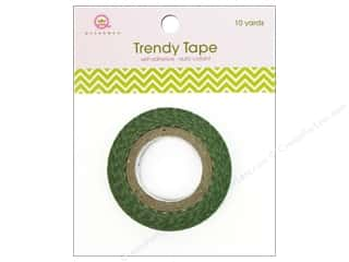 Queen&Co Trendy Tape 10yd Skinny Minnie Chevron Green
