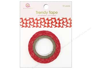 Queen & Co Trendy Tape: Queen&Co Trendy Tape 10yd Red Hearts