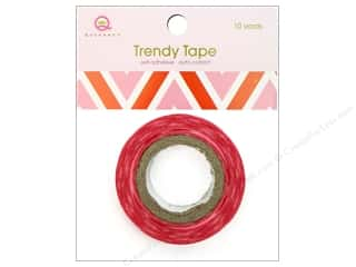 Queen&amp;Co Trendy Tape 10yd Chevron Love