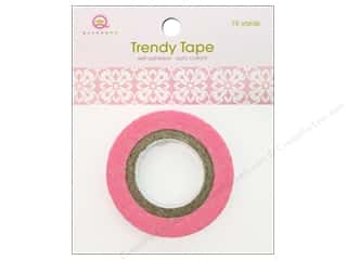 Queen&amp;Co Trendy Tape 10yd Pink Motif