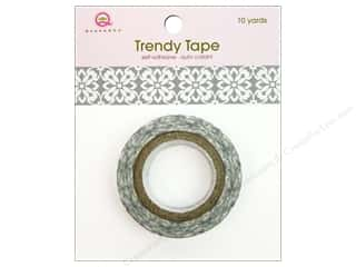 Queen&amp;Co Trendy Tape 10yd Grey Motif