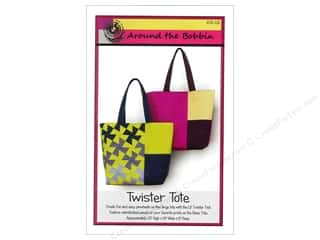 Tote Bag $10 - $15: Around The Bobbin Twister Tote Pattern
