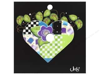 Jody Houghton Pins Patchwork Heart Purple