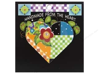 Jody Houghton Pins Patchwork Heart Red