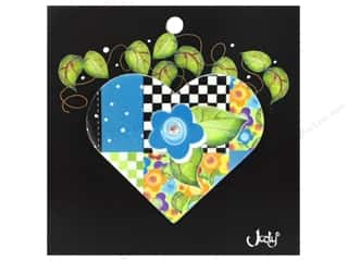 Purses Blue: Jody Houghton Pins Patchwork Heart Teal