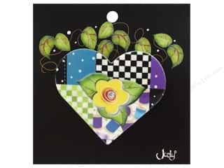 Jody Houghton Pins Patchwork Heart Yellow
