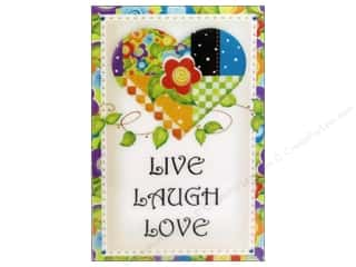 Magnets Blue: Jody Houghton Magnets Patchwork Heart Live Laugh Love