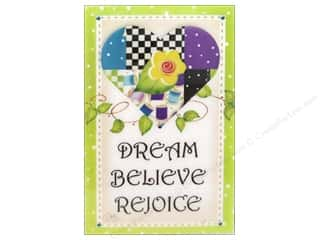 Magnets Blue: Jody Houghton Magnets Patchwork Heart Dream Believe Rejoice