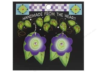 Jody Houghton: Jody Houghton Earrings Acrylic Flower Purple