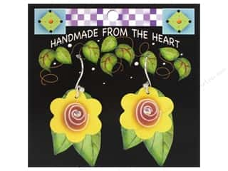 Jody Houghton: Jody Houghton Earrings Acrylic Flower Yellow