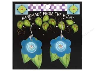 Jody Houghton Earrings Acrylic Flower Teal