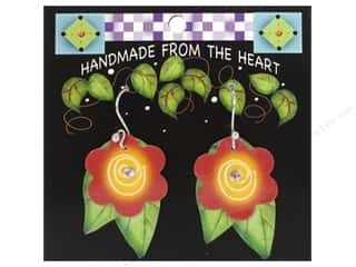 Earrings Gifts: Jody Houghton Earrings Acrylic Flower Red