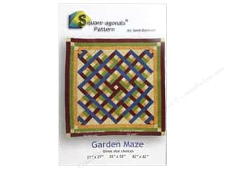 Unique Clearance: Square-agonals Garden Maze Pattern by Sandi Blackwell