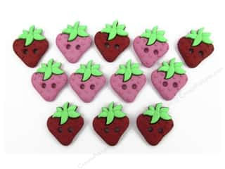 Jesse James Embellishments Sew Cute Strawberries