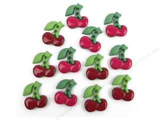 Fruit & Vegetables Back To School: Jesse James Dress It Up Embellishments Sew Cute Cherries