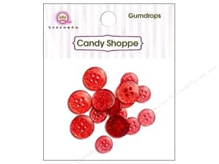 Queen & Company Novelty Buttons: Queen & Co Buttons Gumdrops Cherry Bomb