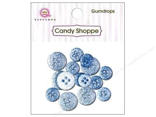 Queen & Co. Buttons Gumdrops Blueberry Bliss