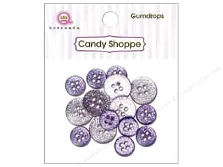 Queen & Co. Buttons Gumdrops Grape Ape