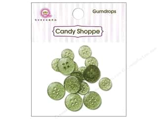 Queen & Company Novelty Buttons: Queen & Co Buttons Gumdrops Kiwi Kiss