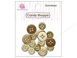 Queen & Company Novelty Buttons: Queen & Co Buttons Gumdrops Lemon Drop