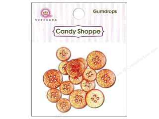 Queen & Company Novelty Buttons: Queen & Co Buttons Gumdrops Orange Crush