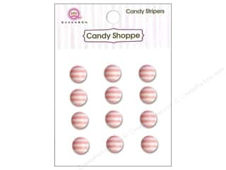 Queen & Company Stickers: Queen&Co Sticker Candy Stripers Round Cotton Candy