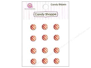 Queen&Co Sticker Candy Stripers Round Orange Crush