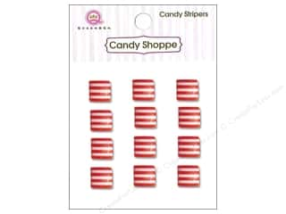 Children paper dimensions: Queen&Co Sticker Candy Stripers Square Cherry Bomb