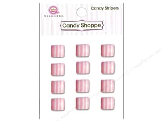 Children paper dimensions: Queen&Co Sticker Candy Stripers Square Cotton Candy